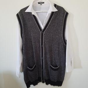 Horst merino blend long cardigan button down